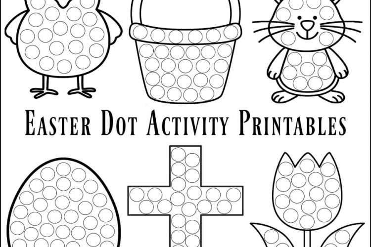 Easter Dot Activity Printables