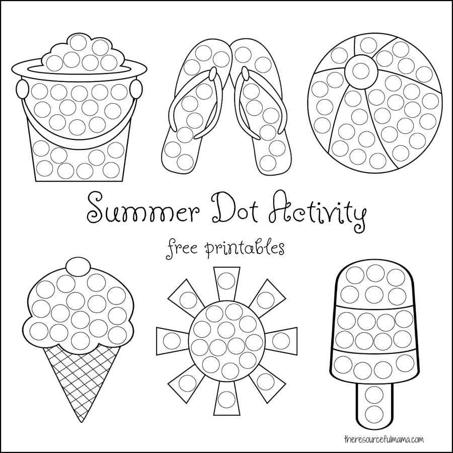 Summer Dot Activity Printables Resourceful Mama