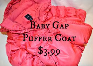 girls gap puffer coat