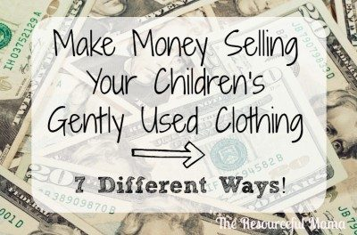 Make Money From Your Children's Clothing