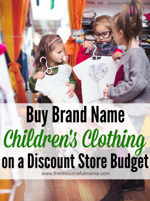 Brand Name Children's Clothing on a Discount Store Budget