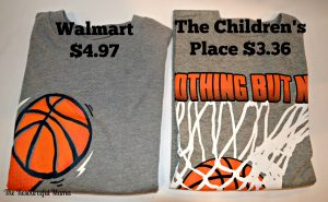 comparison prices of walmart vs The Children's Place boys shirts