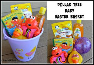 dollar tree Easter basket baby