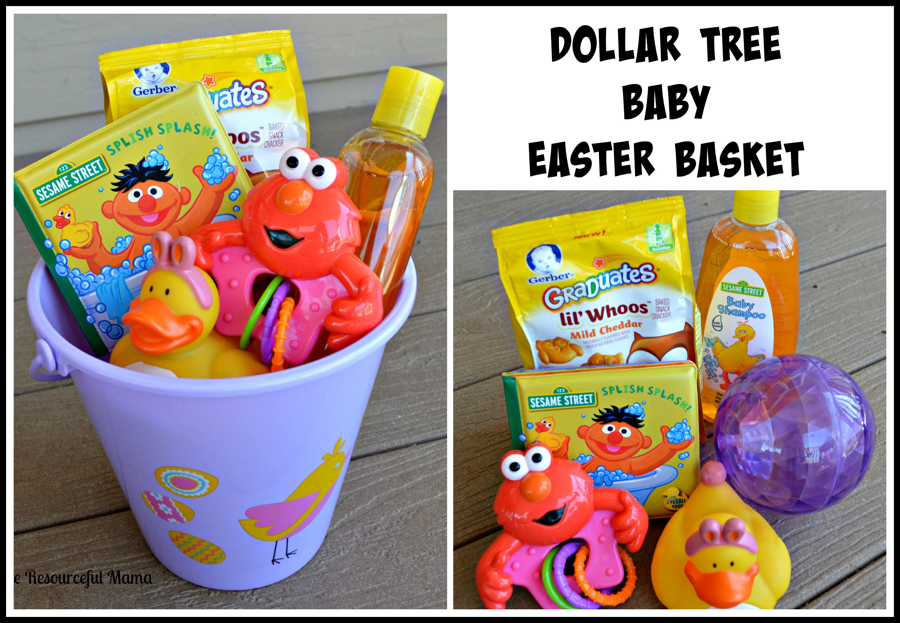 Dollar tree easter baskets the resourceful mama dollar tree easter basket baby negle Images