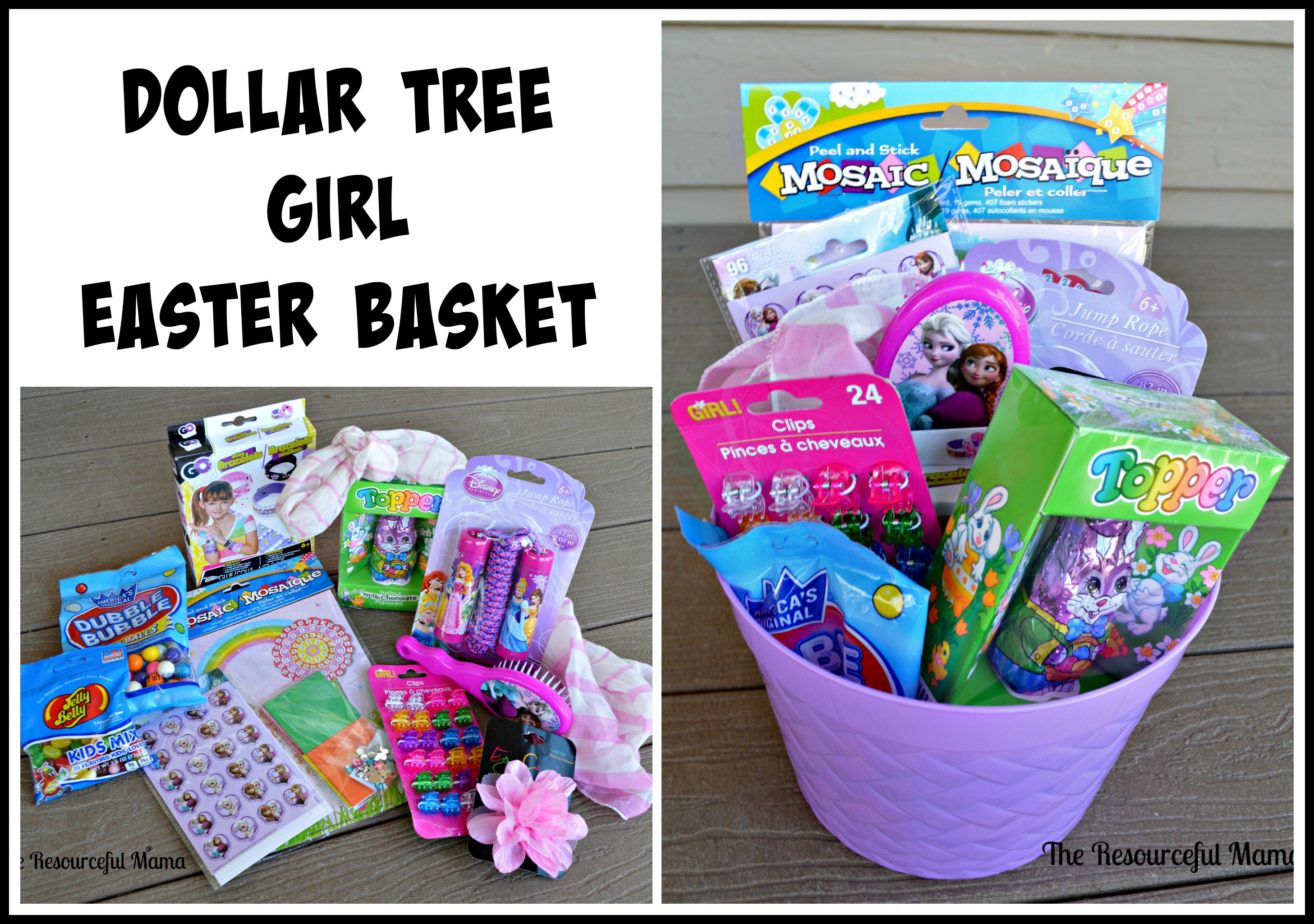 Dollar tree easter baskets the resourceful mama dollar tree easter basket girl negle Images