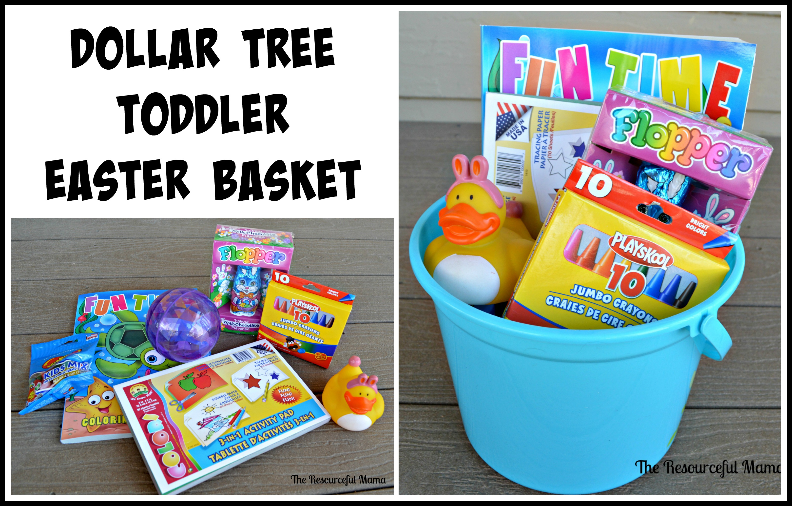 Dollar tree easter baskets the resourceful mama dollar tree easter basket toddler negle Choice Image