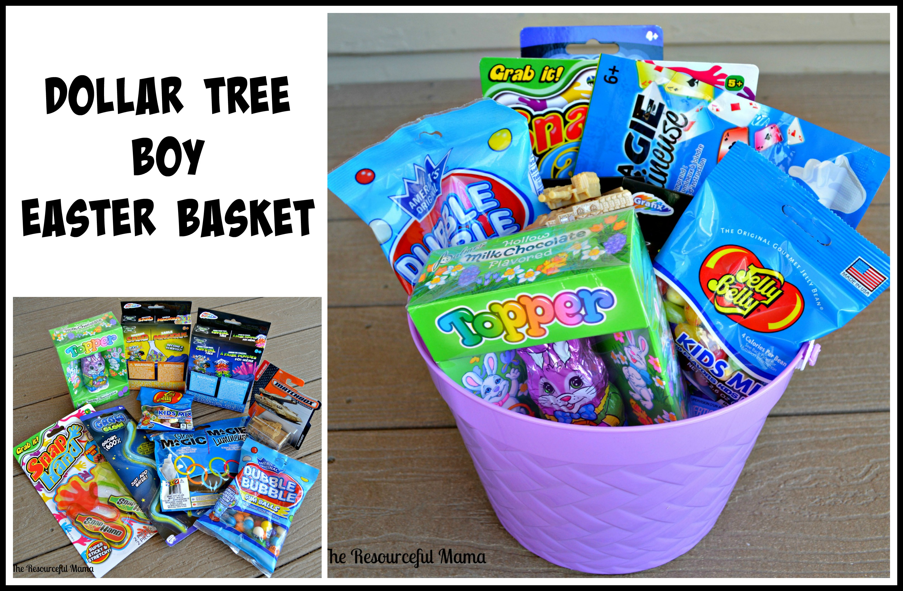Dollar tree easter baskets the resourceful mama dollar tree easter basket boy negle Image collections