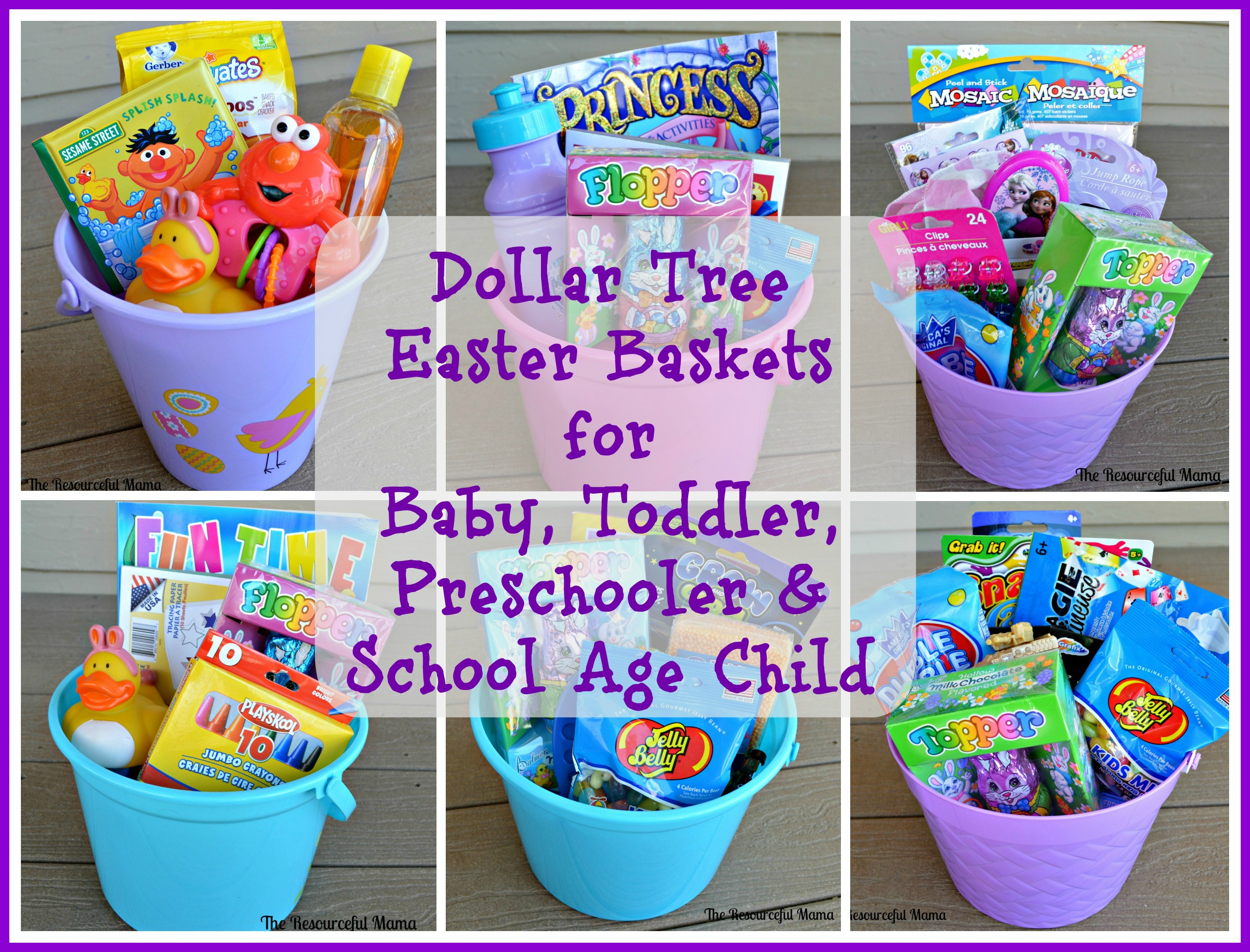 Dollar tree easter baskets the resourceful mama dollar tree easter basket for baby toddler preschooler school age child negle Images