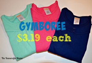 Gymboree shirts $3.19 each