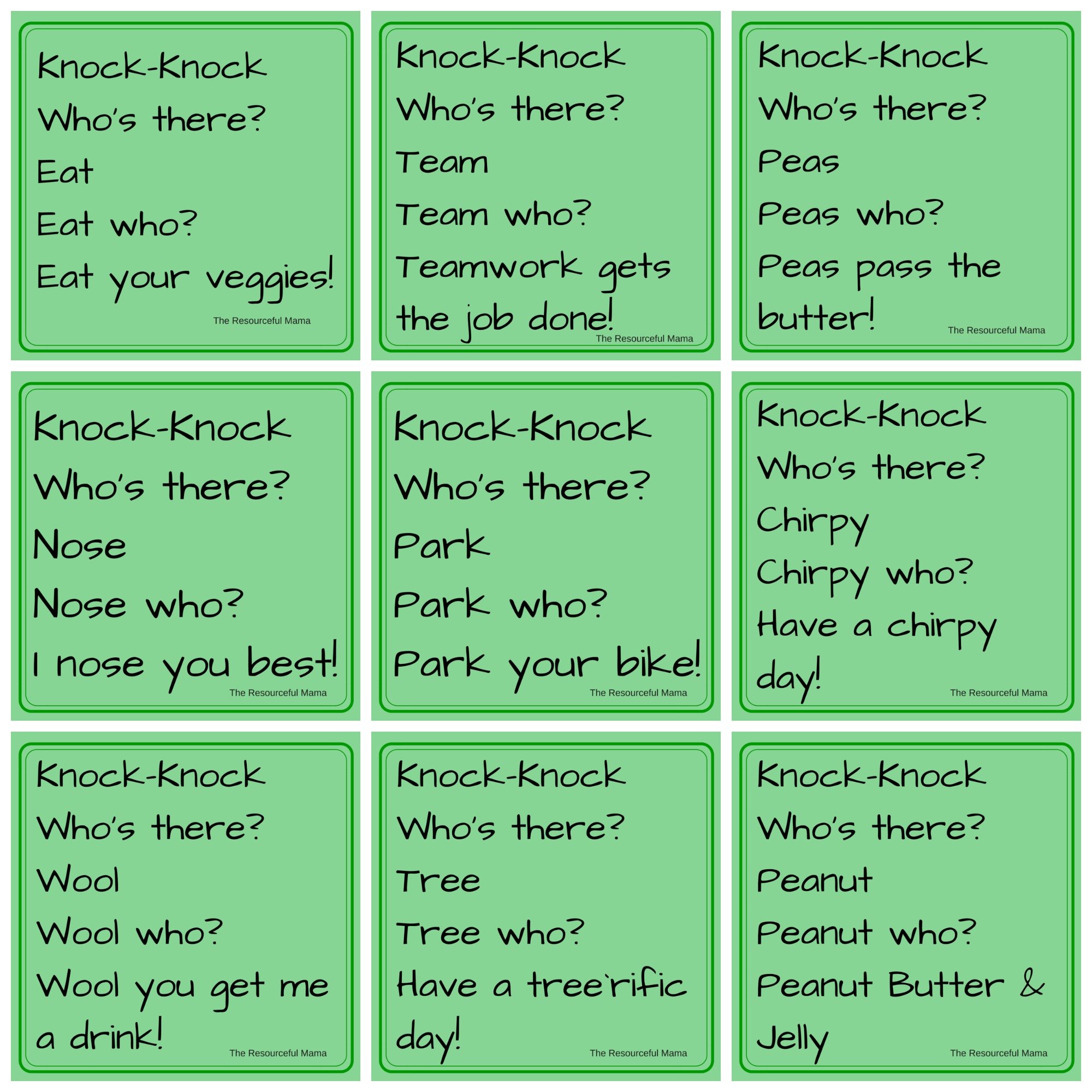 April Fool&#39;s Day <b>Knock</b>-<b>Knock Jokes</b> for <b>Kids</b> - The Resourceful Mama