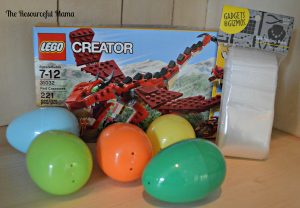 supplies needed to fill easter eggs with legos