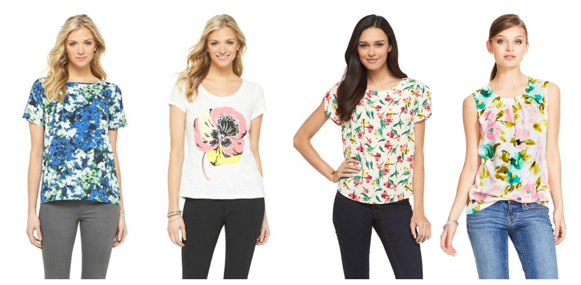 Target floral tops