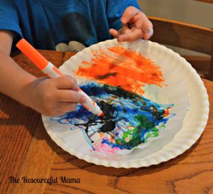 use markers to color coffee filter
