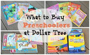 what to buy preschoolers at Dollar Tree