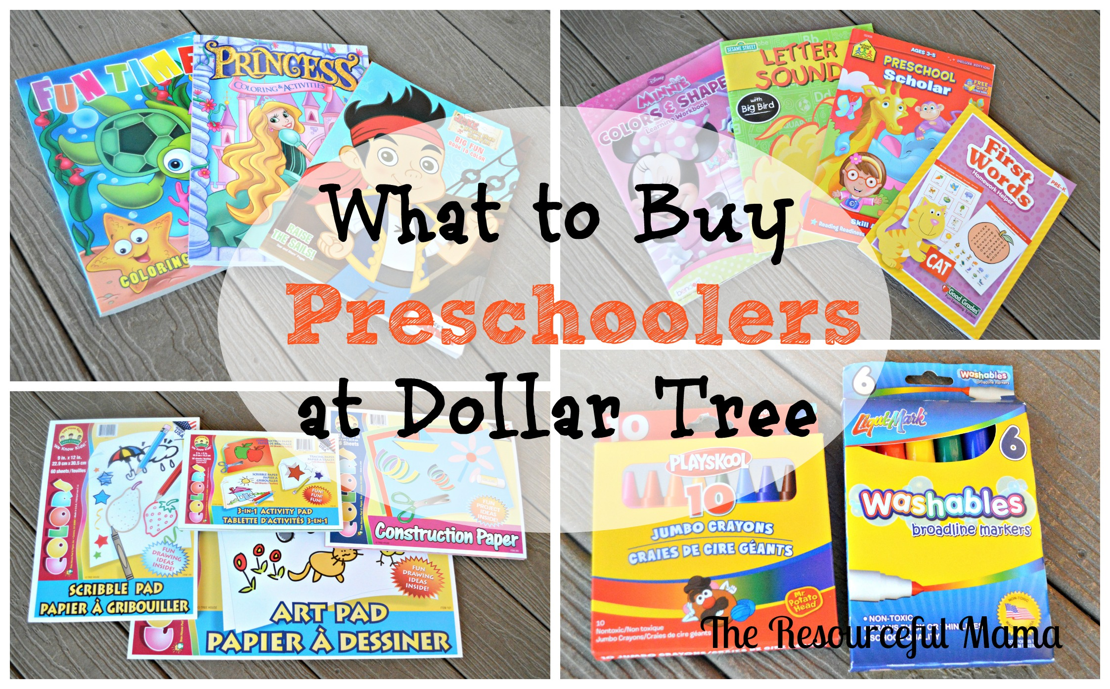 what to buy preschoolers at dollar tree - Dollar Tree Coloring Books
