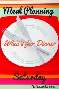 Meal Plan~Week #3