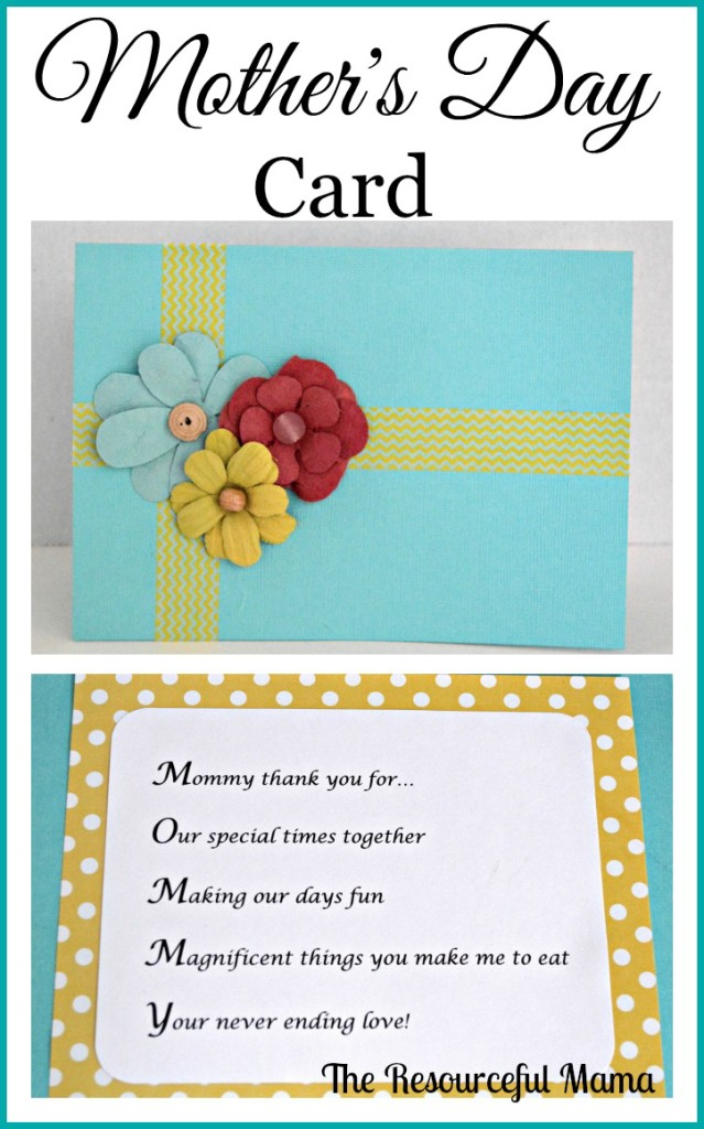 Mother's Day Card with Acrostic Poem