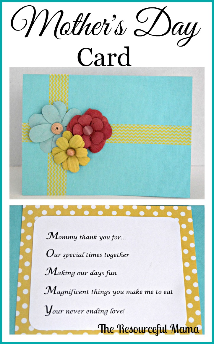 mothers day card with acrostic poem