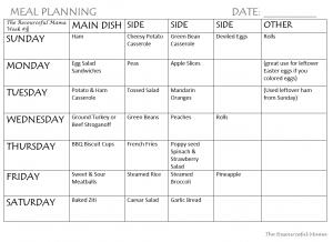 meal plan week #5