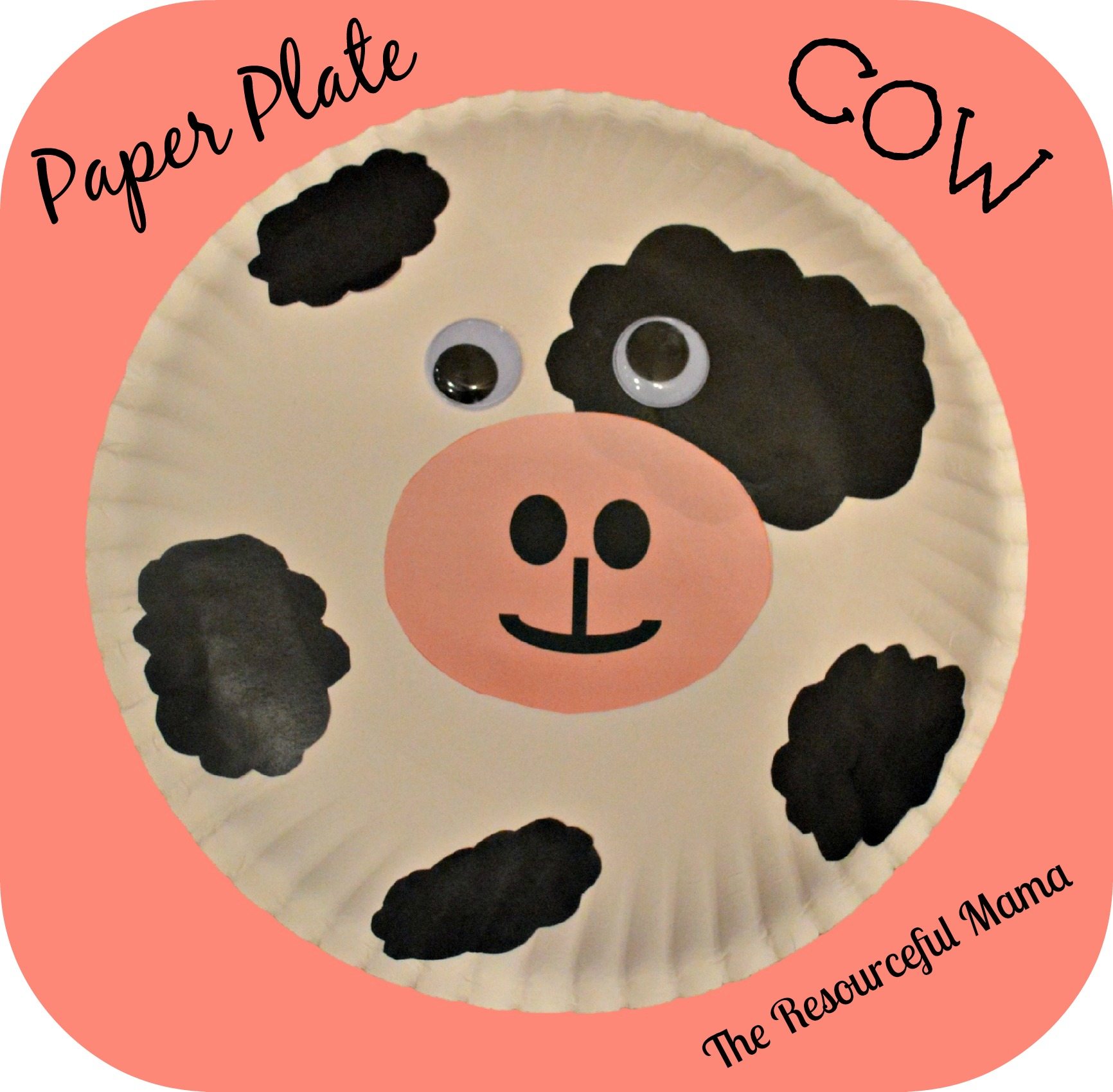I thought this paper plate cow would be a fun craft to do with this book. It is really easy to make with items you likely already have on hand.  sc 1 st  The Resourceful Mama & Book + Craft Paper Plate Cow - The Resourceful Mama