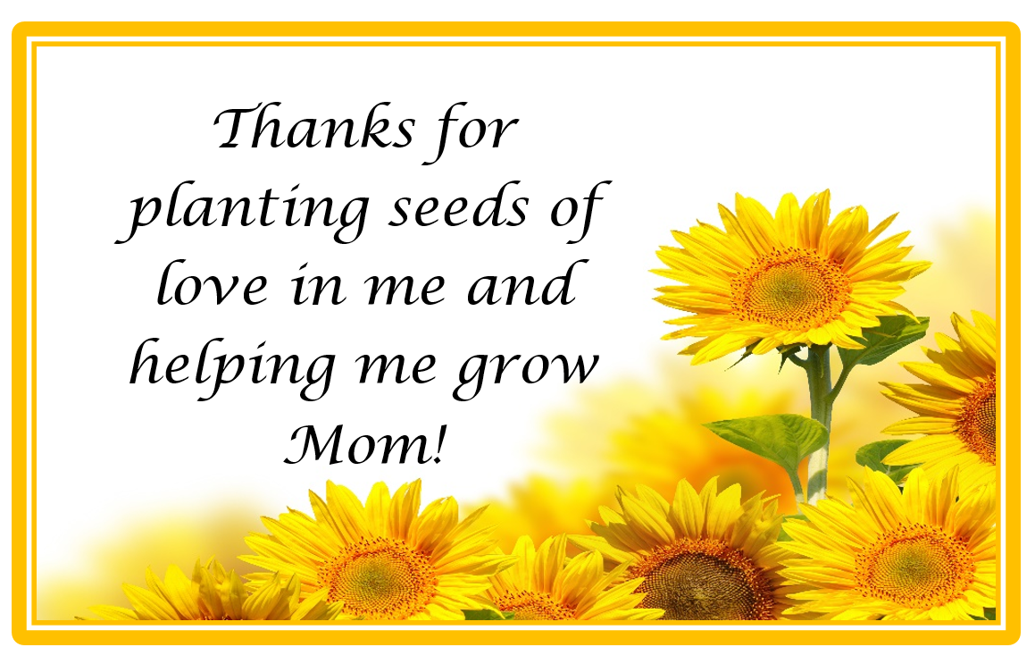Plant The Seed Of Love Mothers Day Card The Resourceful Mama