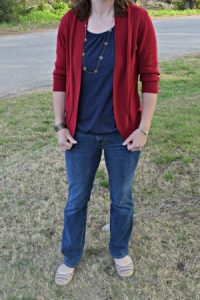 dkny jeans-aerosoles shoes-burgundy sweater-loft shell