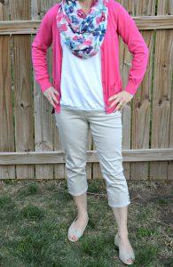 what i wore spring nine west crop jeans, Isaac Mizrahi cardigan