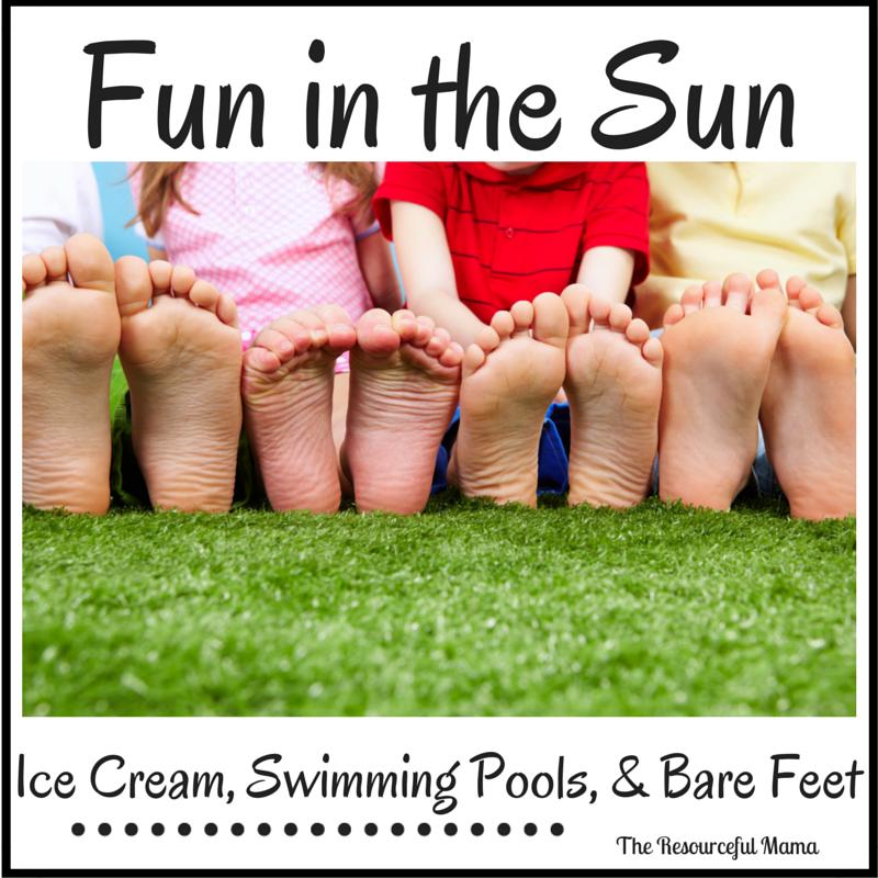 Icecream kids Tee Sunshine Summer Kids Tee Poolside Flip Flops