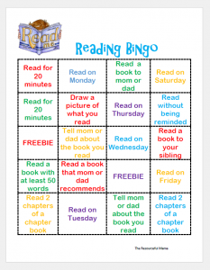 Reading Bingo~encourage summer reading