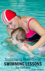 Great benefits to doing swimming lessons with your baby