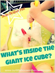 what's in the giant ice cube
