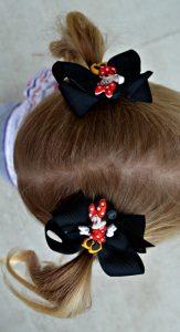 Semi-homemade minnie mouse hair bows