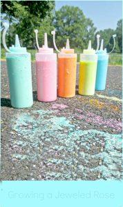 squirt bottle sidewalk chalk