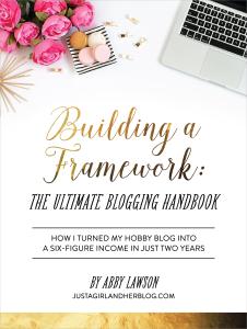 Building a Framework: The Ultimate Blogging Handbook