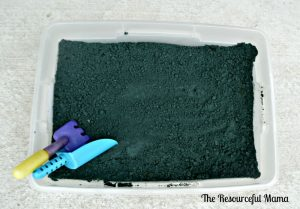 "Kids will spend hours playing with this ""dirt"" made from baking soda."