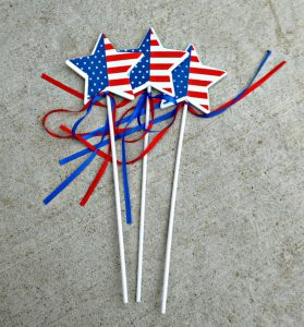 purchased in 3 pack from Dollar Tree to make a DIY wreath for 4th of July