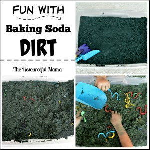 "My kids had so much fun playing with this baking soda ""dirt""."