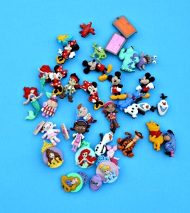 Disney buttons used to make I-spy bags