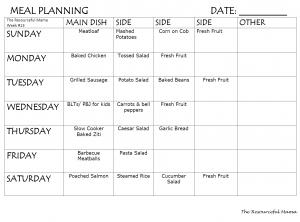 meal planning week #13