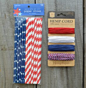 supplies needed to make paper straw flag