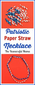 These patriotic paper straw necklaces make the perfect 4th of July craft project for kids.