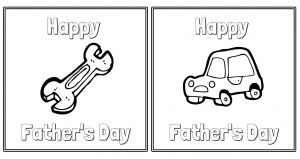 Make father's day special...print these cards and have your kids color.