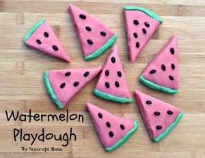 Make homemade kool-aid watermelon playdough that looks and smells like watermelon.