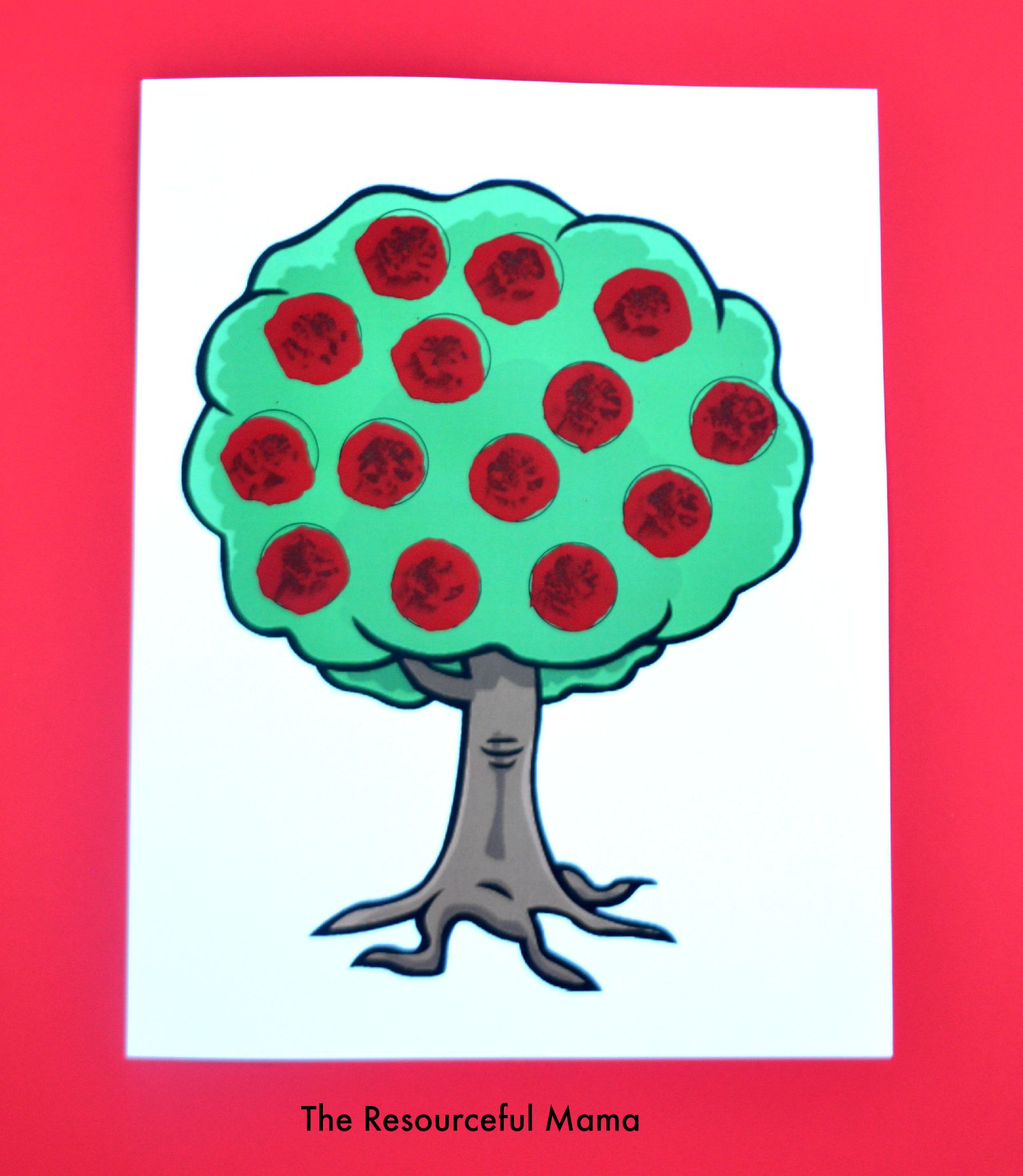 Apple Tree Pom Pom Painting The Resourceful Mama