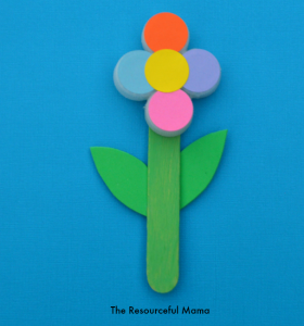 Upcycle your recycled bottle cap/lids with this kids' craft flower.