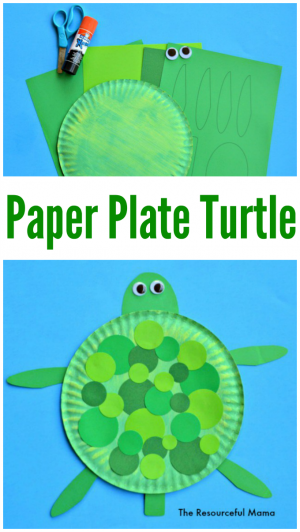 sc 1 st  The Resourceful Mama & Paper Plate Turtle Craft - The Resourceful Mama