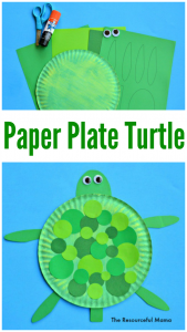 Paper plate turtle craft for kids  sc 1 st  The Resourceful Mama : paper plate turtle - pezcame.com