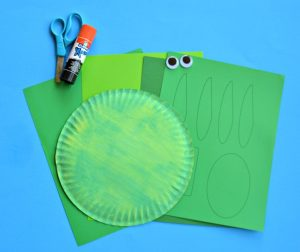 Supplies needed for paper plate dot turtle