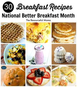 30 breakfast recipes