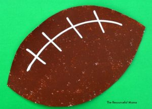 sponge painted football great art and craft project for kids